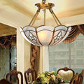 European Pastoral Copper Chandelier for Dining room Living Room Bedroom Study room American Style Classic Lamp 1692