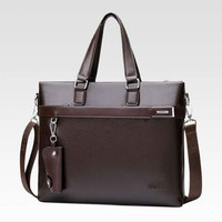 2018 Men Leather Bag Casual Business Shoulder Bag Leather Messenger Bag Computer Laptop Handbag for Businessman New Fashion