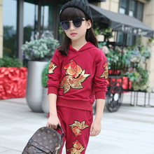 2016 boys girls autumn winter clothes sets kids sport clothing outfit children hoodies+ pants cotton&polyster mixed material