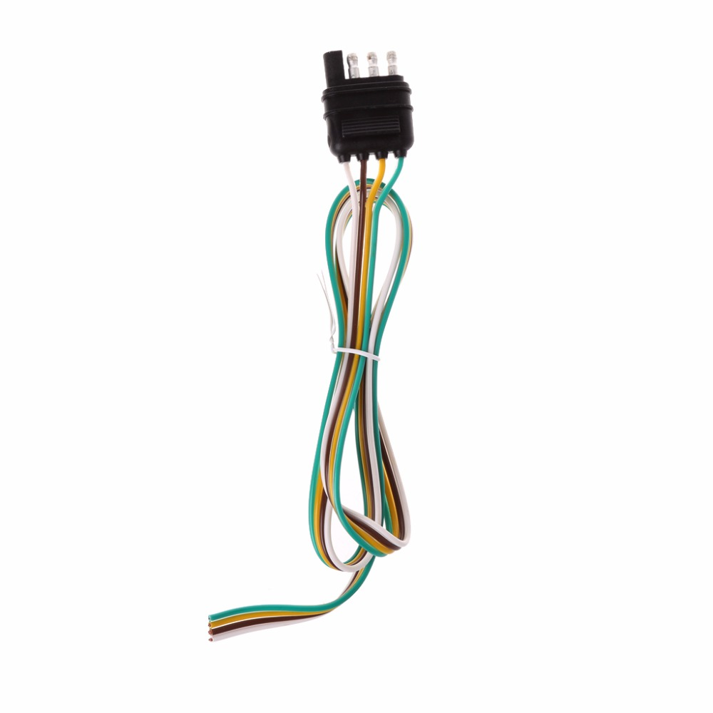 Car Trailer Light Wiring Harness Extension 4 Pin Plug 18 AWG Flat Wire  Connector trailer male plug New C45 -in Cables, Adapters & Sockets from  Automobiles ...