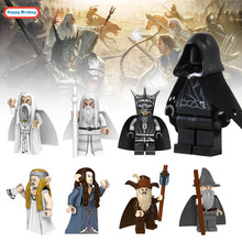 Legoinglys Lord Of The Rings and Star Wars Action Figures Gandalf Frodo Elrond Balin Building Blocks Toys Gift WY30(China)