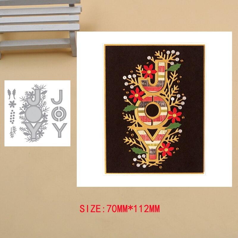 JOY Card Decoration Metal Cutting Dies Craft Album Dies Scrapbooking New 2019 Dies Embossing Stencils Paper Card Making