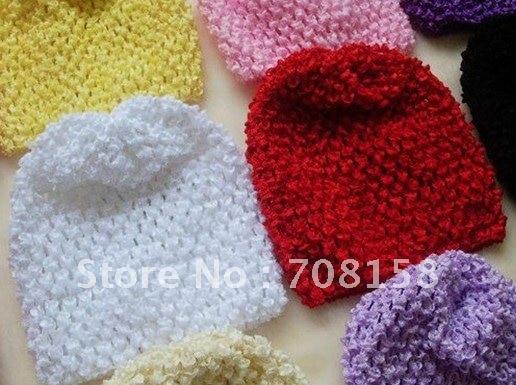 200 шт./лот Детское вязание крючком вафельные летняя шляпа и вафельные Beanie Головные уборы для женщин много цветов на выбор