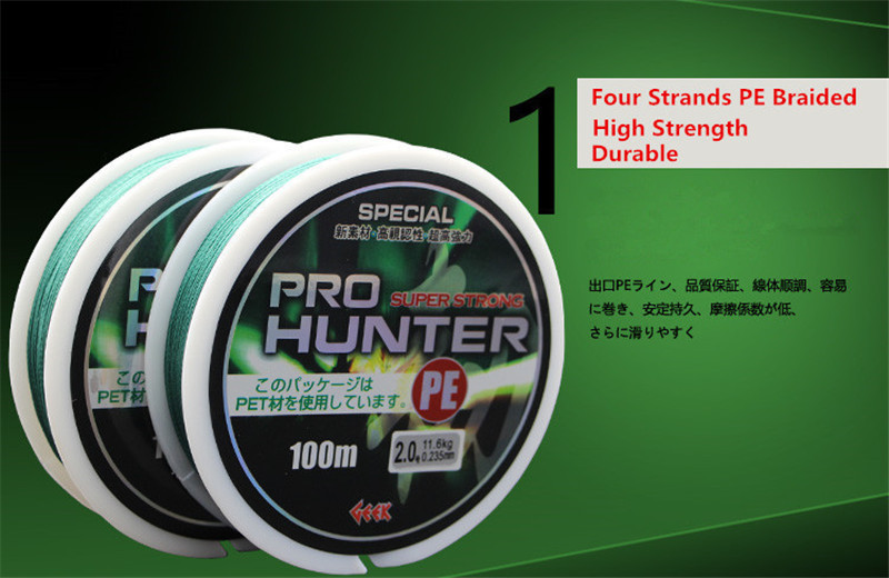 Brand Quality 8 Strands PE Braided Fishing Line 100M Quick Sinking Anti-bite Fishing Wire Multifilament PE Line for Sea Fishing (6)