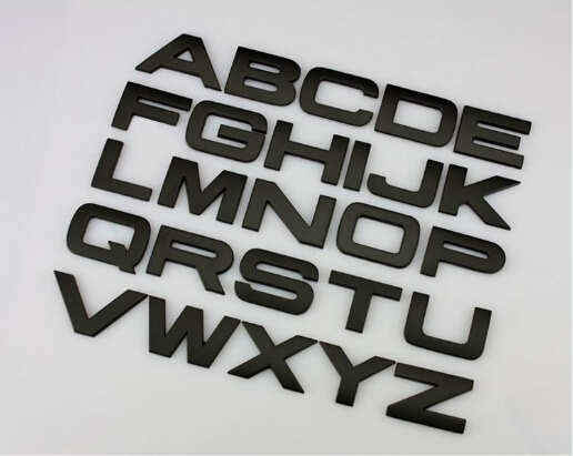 D Letter English Letters Stickers Metal Stickers Decals For - Letter stickers for cars