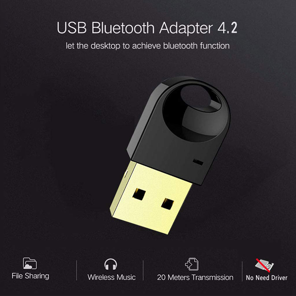 Audio USB Dongle CSR 4.2 Transmitter Mini Portable Stereo Computer Car Free Driver Wireless Speaker Bluetooth Adapter Receiver