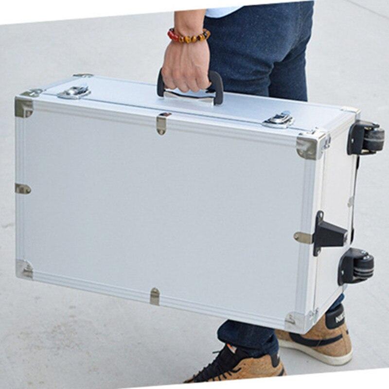 Voyage chariot instrument de précision boîte à outils étanche à l'humidité, alliage d'aluminium résistant aux chocs ABS valise sac boîte de rangement de bagages sacs