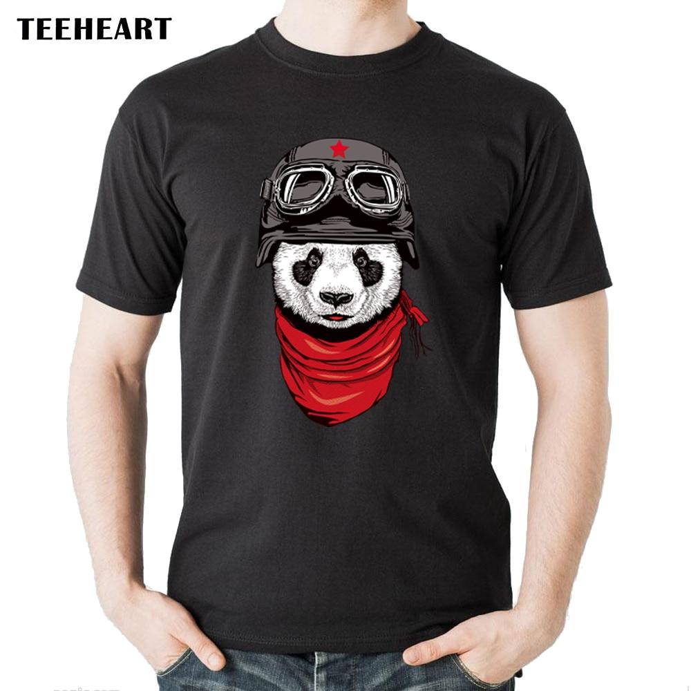 100% Quality 2017 Men's Summer Panda Pilots Printed Short Sleeve Cotton T-shirt Plus Size Cool Tops Soft Tee Cb016 High Quality