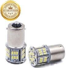купить 2PCS * Super Bright Bulb 1156 BA15S P21W Socket Car Led Brake Light 3014 Chip 54 SMD Auto Turn Signal Lamp по цене 308.72 рублей