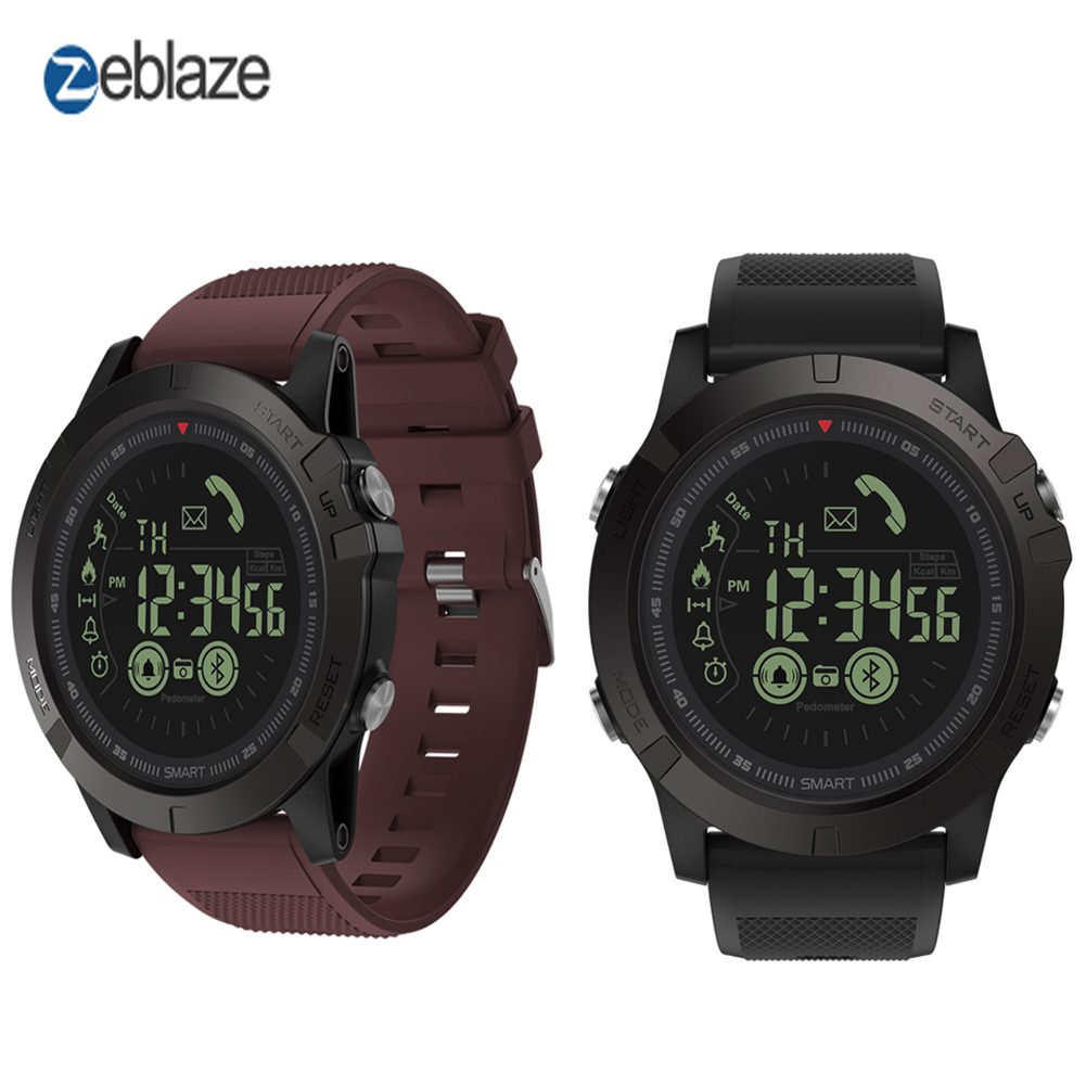 Zeblaze VIBE 3 Smart Watch Bluetooth Luminous Dial Low Battery Reminder Wristband IP67 Waterproof Long Standby Time Pk T1 Tact