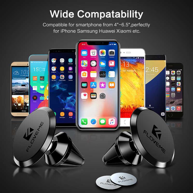 FLOVEME מגנטי מכונית טלפון בעל עבור iPhone XS Max XR X 8 אוניברסלי אוויר Vent הר מגנט Stand עבור Xiaomi soporte Movil אוטומטי