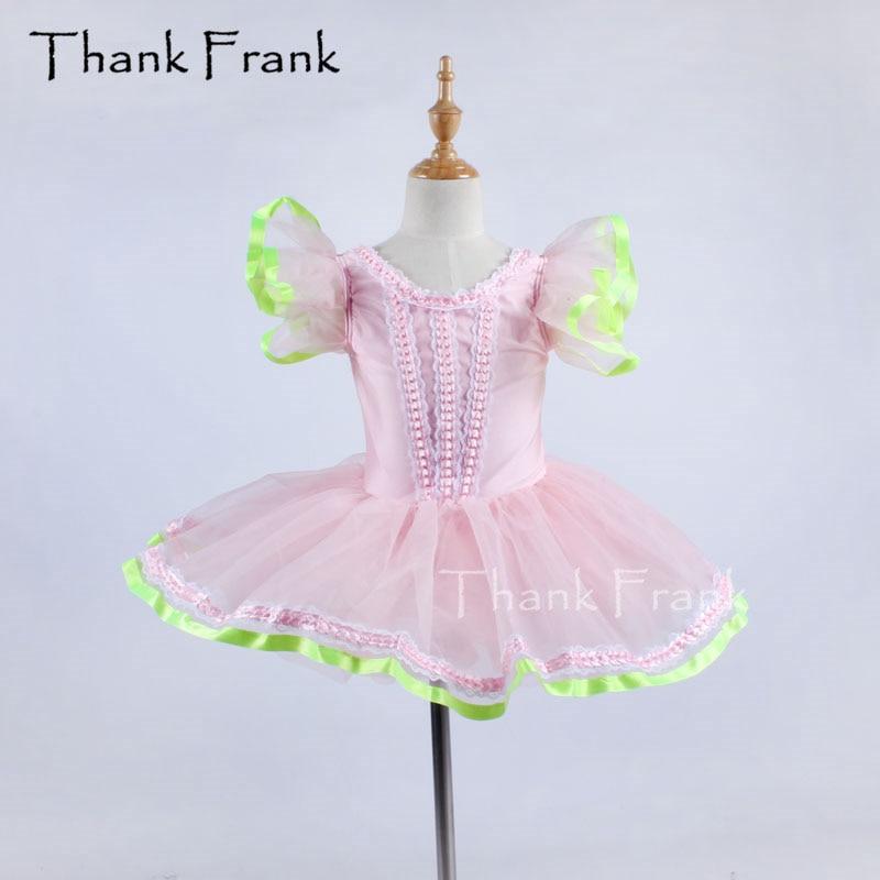 დამხმარე-ცეკვა გოგონები ფუთა ყდის Ruffle ყელსაბამი ბალეტი Tutu Dress საბავშვო ცეკვა კოსტუმი C198