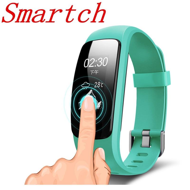 Smartch GPS Smart Bande ID107 Plus RH Fitness Bluetooth Bracelet Activité Sportive Tracker Bracelet avec Coeur Taux Tracker & xiao