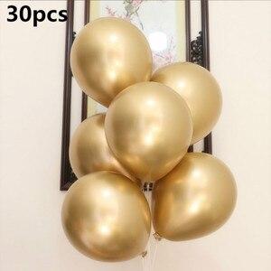 Image 4 - Ballons en arche en or et blanc, 133 pièces, en guirlande pour mariage, décoration en Kit pour fête danniversaire