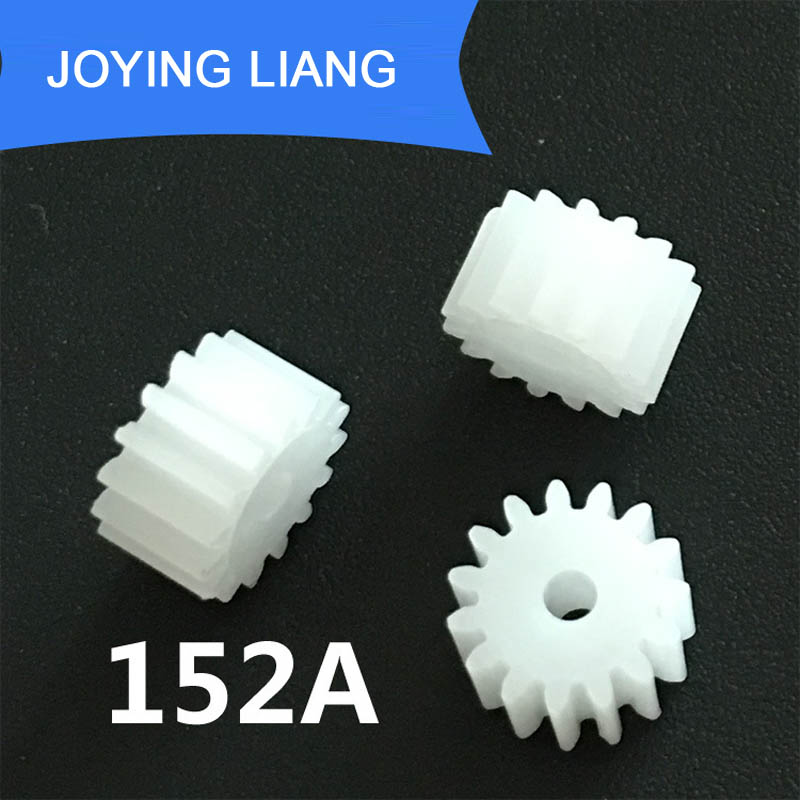 152A 0.5M Spur Gears Modulus 0.5 15 Teeth 2mm Hole Plastic Gear Motor Tooth Toy Parts 10pcs/lot