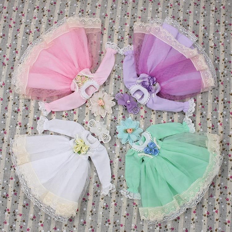 Neo Blythe Doll Lace Flower Dress 1