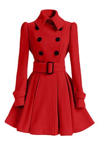 Long Manteau Fr1138 Trench Femmes Hiver Automne 2018 Slim Nouveau Manches Fashion Femme red Black khaki Fit Tranchée Manteaux Style Casual pink À grey Longues white Solide vCxwHnfwXq