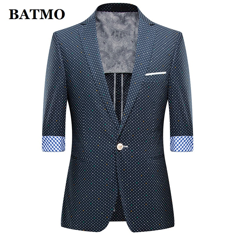 BATMO 2019 New Arrival Summer High Quality Casual Blazer Men,men's Summer Jackets ,plus-size M-4XL,1301
