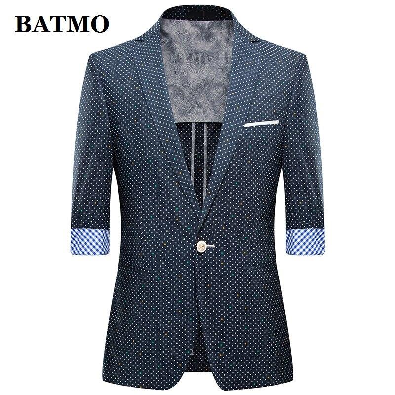 BATMO 2019 New Arrival Summer High Quality Casual Blazer Men,men's Summer Jackets ,plus-size M-4XL,1301