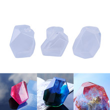 Resin irregular Stone epoxy into mold Gem Tangent Plane Pendant Shaped Silicone Jew Mold(China)