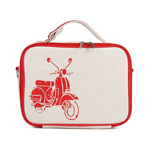 Portable Thermal Lunch Bag Cooler Insulated Lunch Bags Carry Tote Bag Picnic Storage Bag Case Accessories Red(Motorcycle)