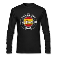 Have No Fear The Spanish Is Here T Shirt O-neck Cotton Long Sleeve Spain Flag T Shirt Men Top Atmosphere Men T-shirt