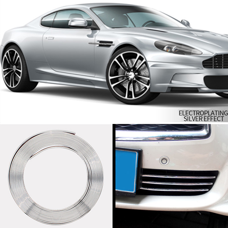 Image 4 - Car Wheel Rim Sticker Chrome Wheel Decoration Auto Tire Rims Plated Strip Protection Decoration Car styling Exterior Accessories-in Car Stickers from Automobiles & Motorcycles