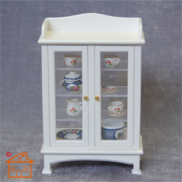 Merveilleux 1/12 Scale Dollhouse Miniature Furniture Display Cabinet Antique Hutch  Cupboard Dollhouse Accessories Doll Toys