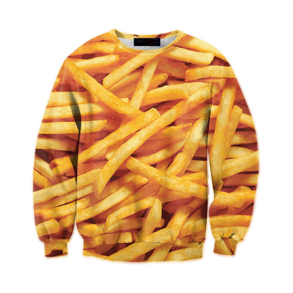 French Fries 3d Pullover Tracksuit Casual Men Funny Print Hoodie Sweatshirt Plus Size 6xl Mens Streetwear Fitness Harajuku Tops