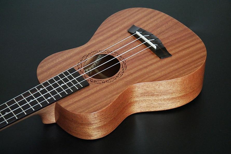 SevenAngel 26 pouces ténor électrique ukulélé acajou Mini hawaïen 4 cordes guitare palissandre Fretboard avec ramassage EQ - 4