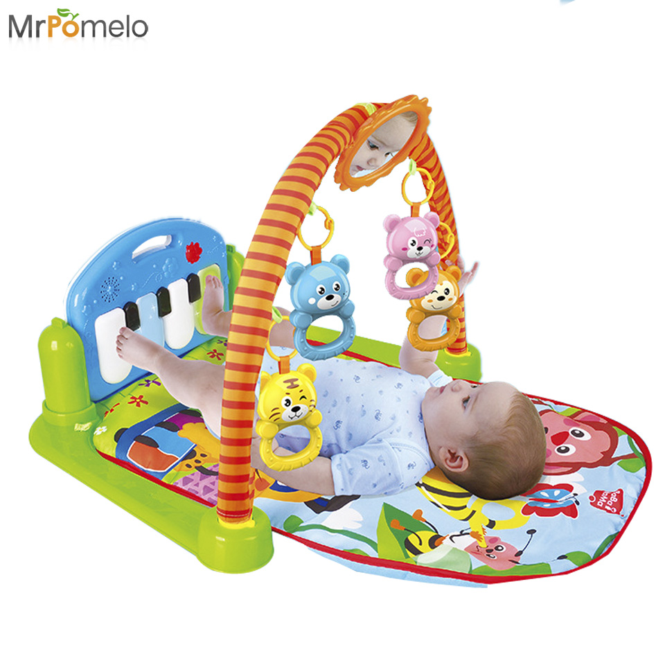 How To Play Newborn On Piano Newborn Baby Multifunction Fitness Frame Music Play Mat Game