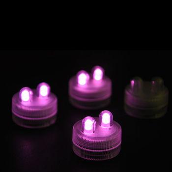 Magic 100pcs/pack LED AMBER DOUBLE SUBMERSIBLE Floralyte II Lights Wedding decor waterproof candle led light