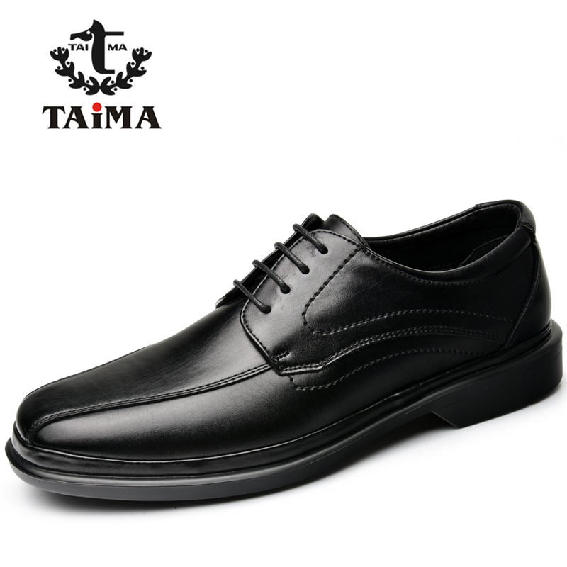 TAIMA Brand Fashion Men Shoes Lace up Casual Flats Shoes Men Comfortable Classical Dress Driving Shoes