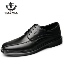 TAIMA Brand Fashion Men Shoes Lace-up Casual Flats Shoes Men Comfortable Classical Dress Driving Shoes Plus Size 40-48 Black