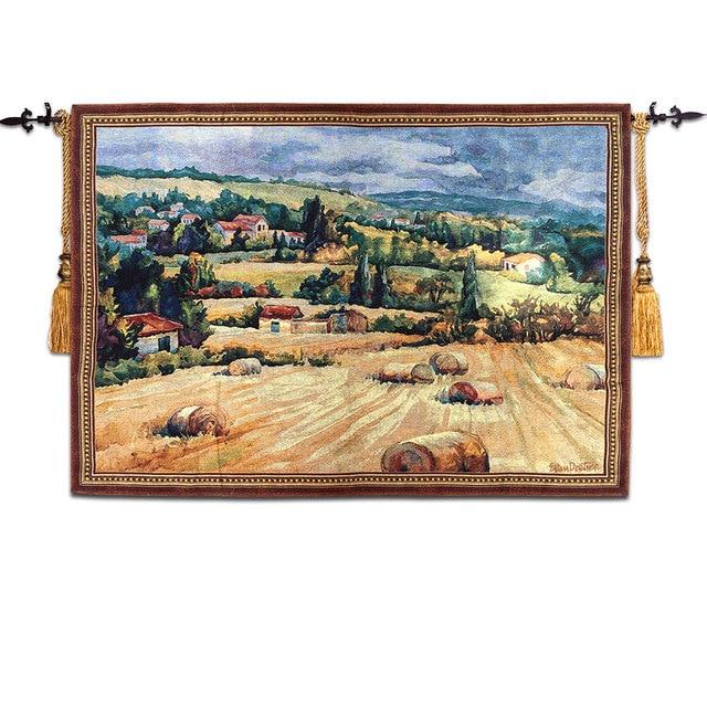Manoir Paysage Tapisserie Tenture Belgique Tapisserie Murale Tissu