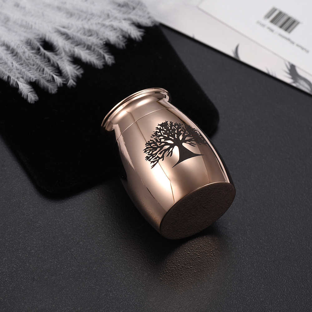 NEW ARRIVAL Silver/Gold/Rose Gold/Black/Gun/Blue Stainless Steel Cremation Mini Urn for Human&Pet Ashes ( 3 Size,S/M/L )