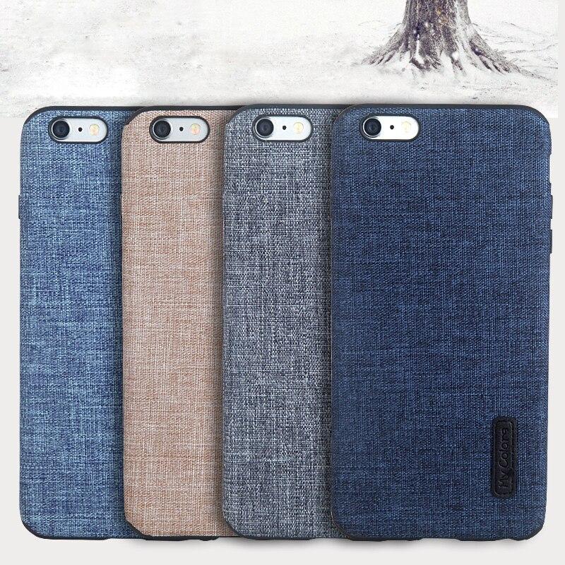 百思买 ) }}For iphone 6 6s case silicone Non-slip Luxury High Quality Cloth+TPU material