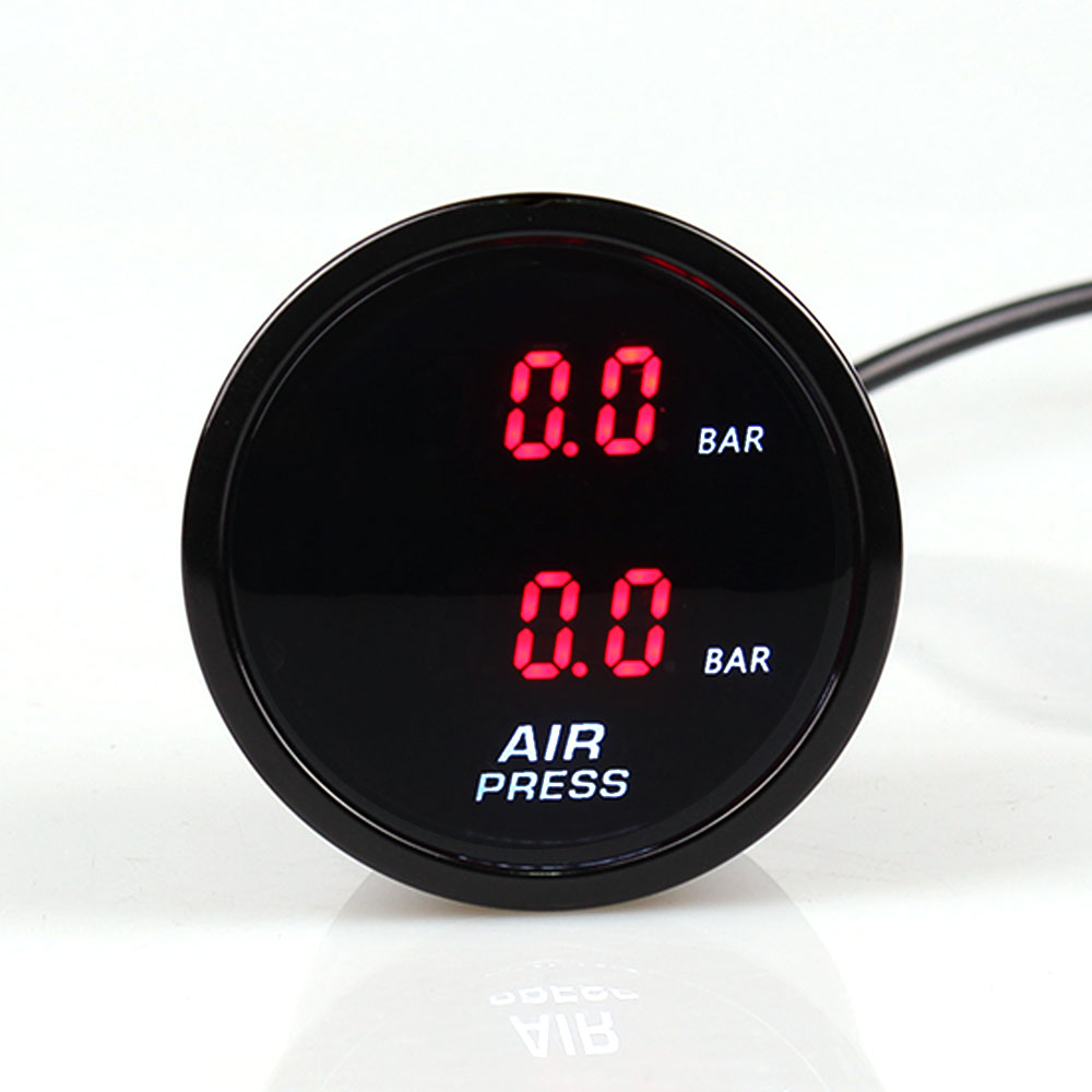 2Inch 52mm Dual Air Suspension Pressure Gauge Bar Air Ride Gauge With 2pieces 1 8NPT Electrical
