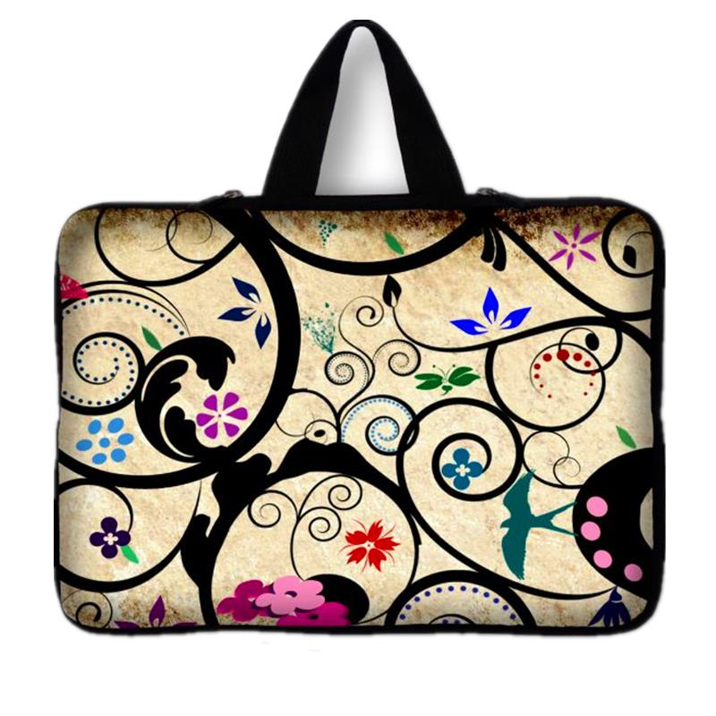 Neoprene Flowers Laptop Bag 10,12,13,14,15.6 inch Notebook Computer Bags Tablet Sleeve Case 13.3 For Macbook Ultrabook Man Women