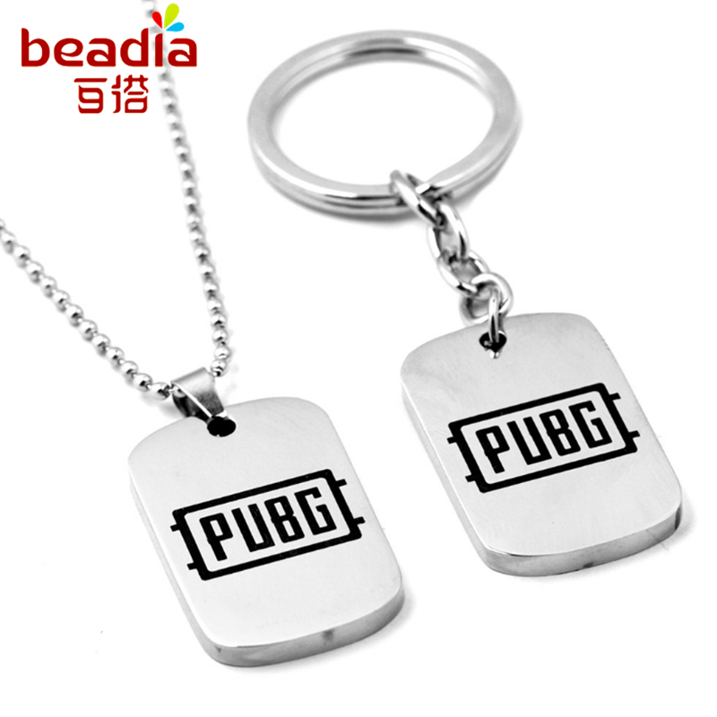 Necklace&Keychain Battlegrounds Jedi Survive Kill Chicken Game Neutral Keychain Necklace For Women&Girls Jewelry Accessories