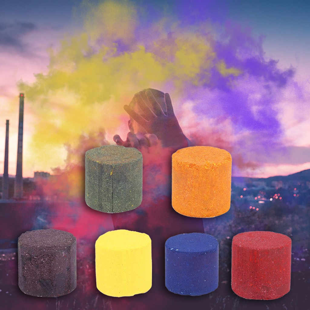 10/12pcs Party Stage Light Fog Smoke Cake Colorful Smoke Effect Show Christmas Party Supplies Round Bomb Stage Photography Aid