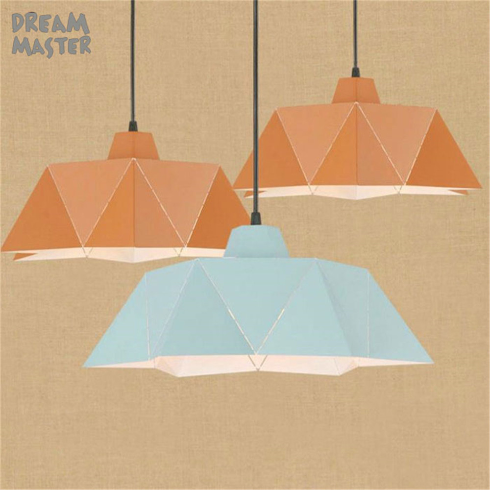 Free Shipping Modern colorful Pendant Lamp Bronze Painting Metal Pendant Light for Stair Dinning Living Room Hanging Lighting