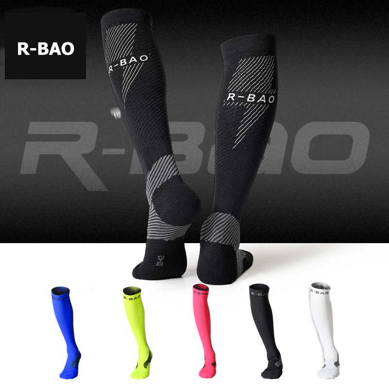 b04d31fa75e Detail Feedback Questions about R BAO Professional Outdoor Sports Socks  Compression Running Stockings Cycling Marathon Night Run Reflective Socks  for Men ...