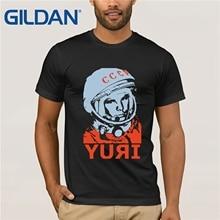 GILDAN YURI GAGARIN CCCP Russian T Shirt Men USSR Soviet Union Man Printed gosha t shirt Moscow Russia
