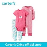 Carter S 3 Piece Baby Children Kids Clothing Girl Spring Cotton Bunny Sleep Play Set 126G968