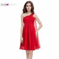 Clearance Sale Ever Pretty Sexy Women Bridesmaid Dresses Short One Shoulder Chiffon Formal Party Dress
