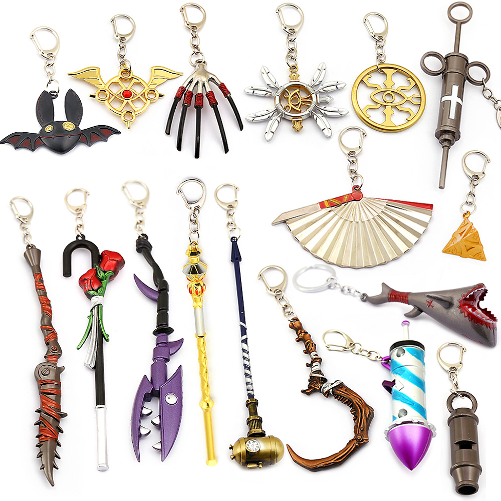 2019 New Game Identity V Keychain Cartoon The Fifth Personality Whistle Hand Pendant Sword Mechanic Coordinator Keyring Llaveros