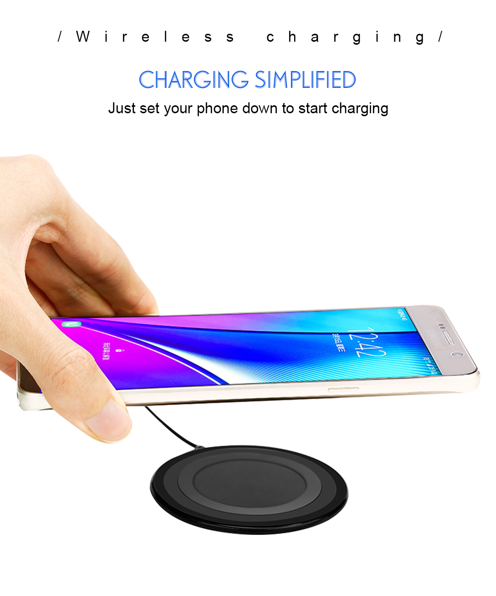 Ascromy Ultra-thin Qi Wireless Charger Pad For Samsung Galaxy Note 8 S9 Plus S8 Standard Charge for iPhone X induction Charging (2)