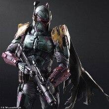 Jouer Arts Star War Imperial Stormtrooper Darth Vader Bounty Hunter Boba Fett 26 cm PVC Action Figure Poupée Jouets Enfants cadeau