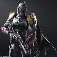 Play Arts Star War Imperial Stormtrooper Darth Vader Bounty Hunter Boba Fett 26cm PVC Action Figure